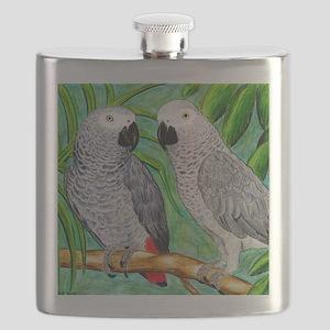 African Greys Flask