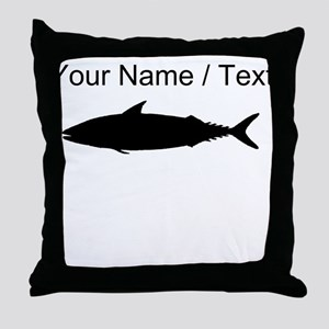Custom Tuna Fish Silhouette Throw Pillow