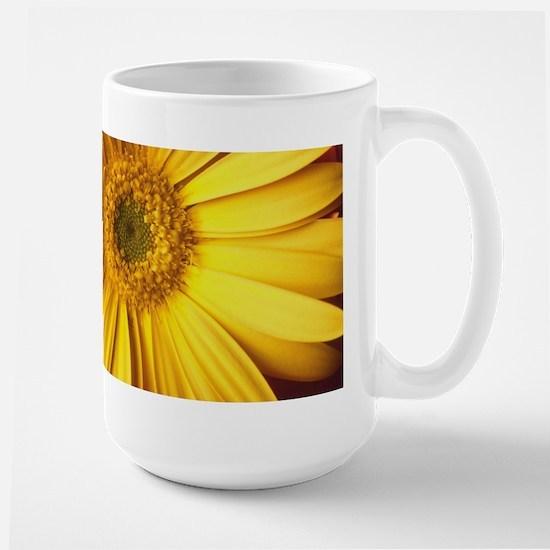 UP CLOSE [yellow daisy] Large Mug