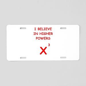 mathematics Aluminum License Plate