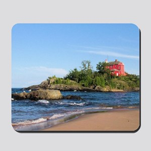 Marquette's red light house Mousepad