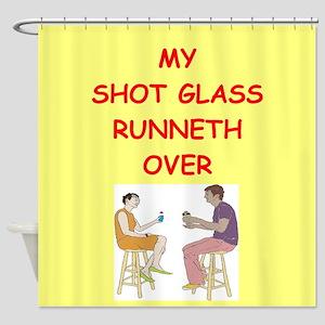 shot glass Shower Curtain