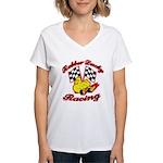 Rubber Ducky Racing Women's V-Neck T-Shirt