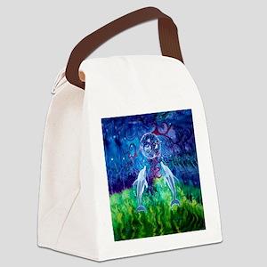 Dolphin Gaze Canvas Lunch Bag