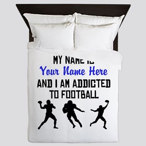 Addicted To Football (Custom) Queen Duvet