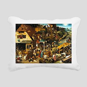 Netherlandish Proverbs,  Rectangular Canvas Pillow