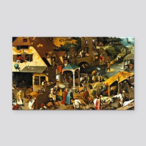 Netherlandish Proverbs, Piete Rectangle Car Magnet