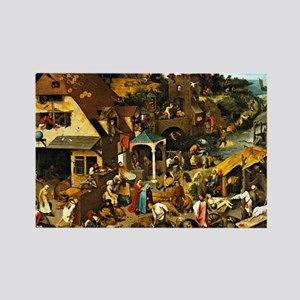 Netherlandish Proverbs, Pieter Br Rectangle Magnet