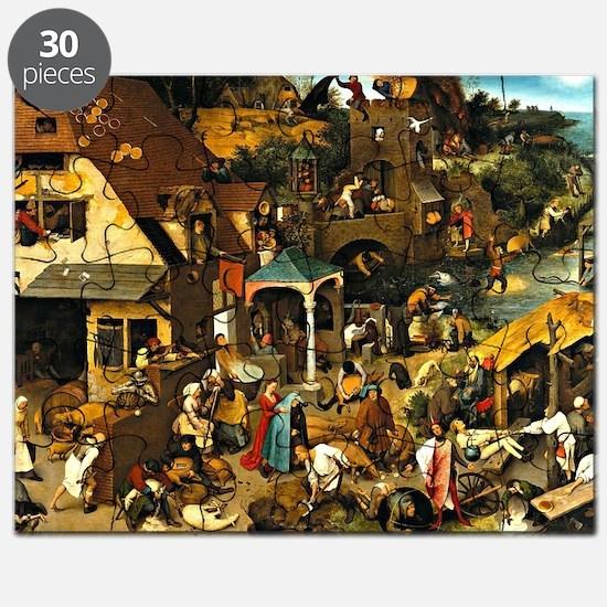 Netherlandish Proverbs, Pieter Bruegel the  Puzzle