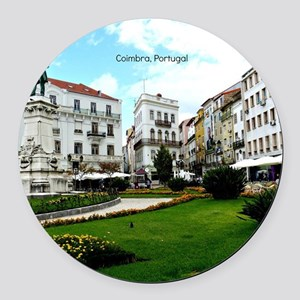 Coimbra, Portugal - World Heritag Round Car Magnet