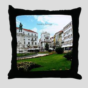 Coimbra, Portugal - World Heritage Si Throw Pillow