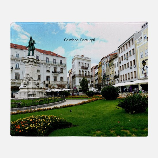 Coimbra, Portugal - World Heritage S Throw Blanket