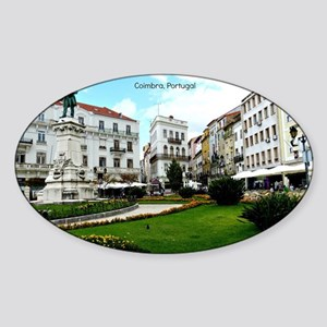 Coimbra, Portugal - World Heritage  Sticker (Oval)