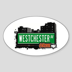 Westchester Av, Bronx, NYC Oval Sticker