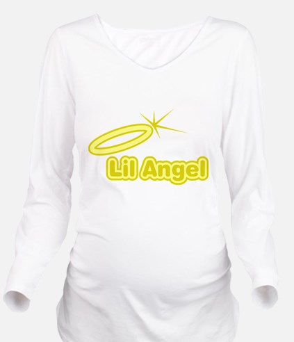 FIN-lil-angel.png Long Sleeve Maternity T-Shirt