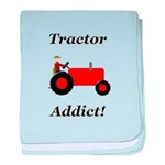 Red Tractor Addict baby blanket