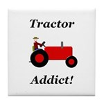 Red Tractor Addict Tile Coaster