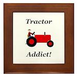 Red Tractor Addict Framed Tile