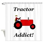 Red Tractor Addict Shower Curtain