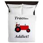 Red Tractor Addict Queen Duvet
