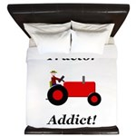 Red Tractor Addict King Duvet