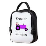 Purple Tractor Junkie Neoprene Lunch Bag