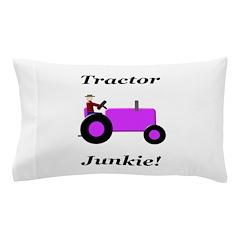 Purple Tractor Junkie Pillow Case
