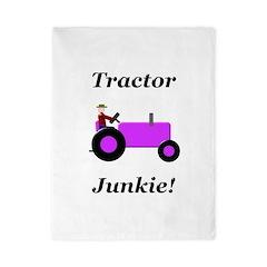 Purple Tractor Junkie Twin Duvet