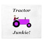 Purple Tractor Junkie King Duvet