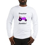 Purple Tractor Junkie Long Sleeve T-Shirt