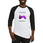 Purple Tractor Junkie Baseball Jersey