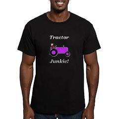 Purple Tractor Junkie Men's Fitted T-Shirt (dark)