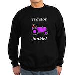 Purple Tractor Junkie Sweatshirt (dark)