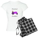 Purple Tractor Junkie Women's Light Pajamas