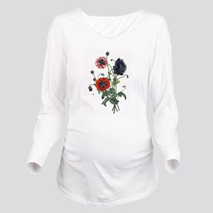 poppies-14x10-300px Long Sleeve Maternity T-Sh