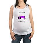 Purple Tractor Addict Maternity Tank Top