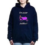 Purple Tractor Addict Hooded Sweatshirt