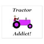 Purple Tractor Addict Small Poster