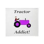 Purple Tractor Addict Throw Blanket