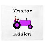 Purple Tractor Addict King Duvet