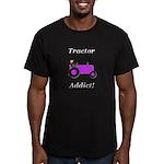 Purple Tractor Addict Men's Fitted T-Shirt (dark)