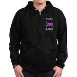 Purple Tractor Addict Zip Hoodie (dark)