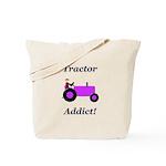 Purple Tractor Addict Tote Bag