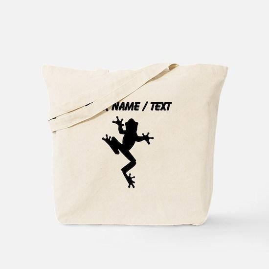 Custom Frog Silhouette Tote Bag