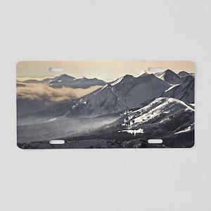 Across an Untamed Landscape Aluminum License Plate