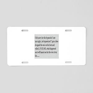 Mic Drop Aluminum License Plate