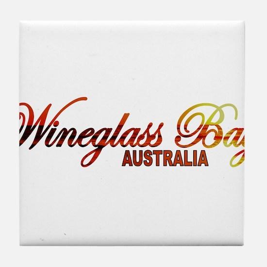 Wineglass Bay, Australia Tile Coaster