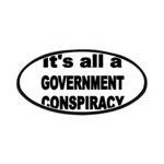 ITS ALL A GOVERNMENT CONSPIRACY Patches