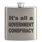 ITS ALL A GOVERNMENT CONSPIRACY Flask