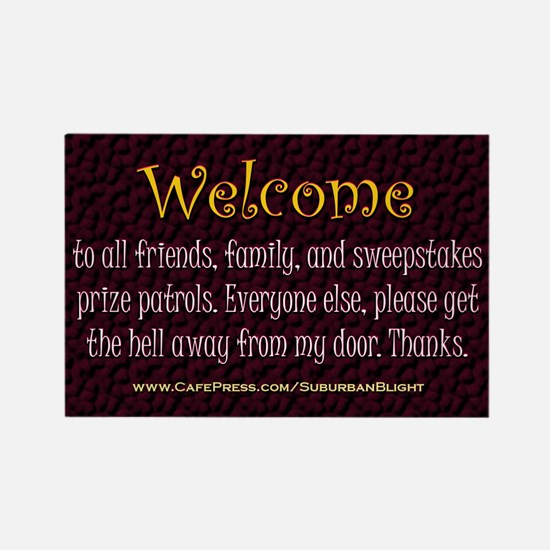 No Soliciting Welcome Magnets
